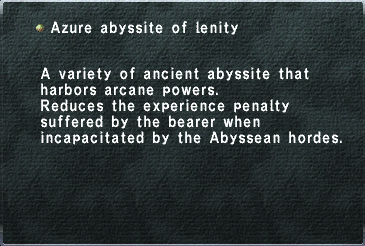 Azure abyssite of lenity