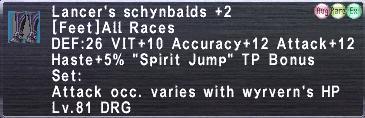 Lancer's schybalds+2