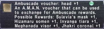 Ambuscade Voucher-Head+1