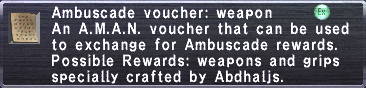 Ambuscade Voucher Weapon