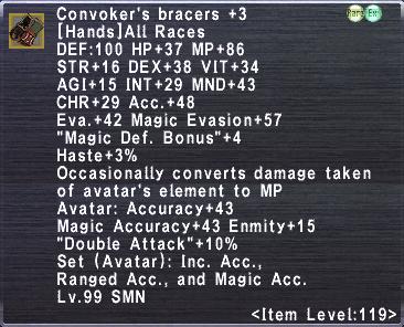 Convoker's Bracers +3