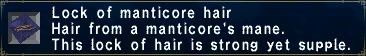 Manticore hair