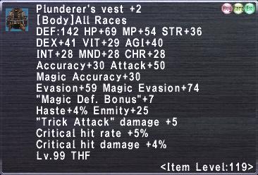 Plunderer's Vest +2