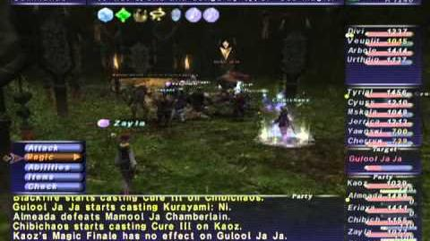 FFXI NM Saga 323 Gulool Ja Ja NM Full Battle