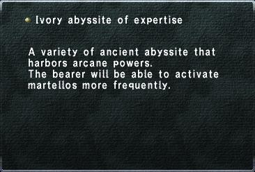 Ivory Abyssite of Expertise