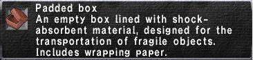 Padded box