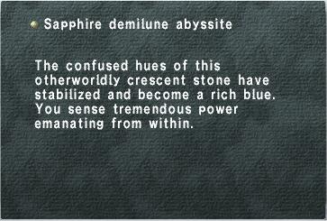 Sapphire Demilune Abyssite