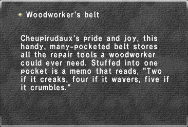 Woodworker's belt