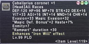 Caballarius coronet +1