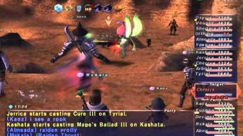 FFXI NM Saga 266 Chloris NM Full Battle