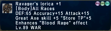 Ravager's Lorica +1