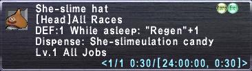 She-slime hat