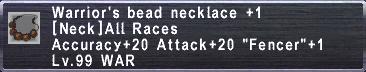 Warrior's Beads +1