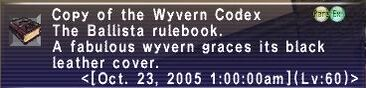 Wyvern Codex
