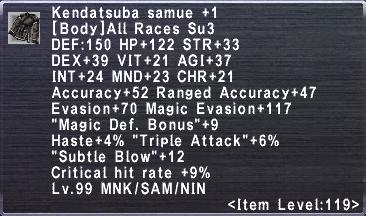 Kendatsuba Samue +1