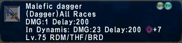 MaleficDagger
