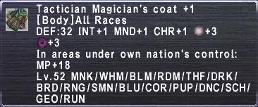 Tactician Magician's Coat+1