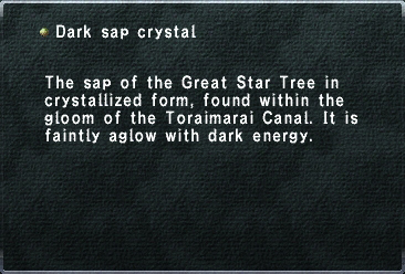 Dark sap crystal