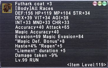 Futhark Coat +3
