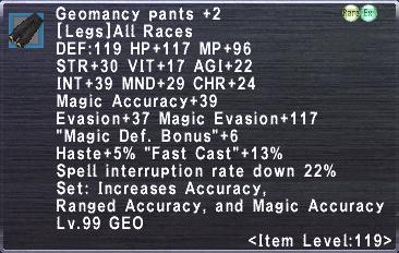 Geomancy Pants +2