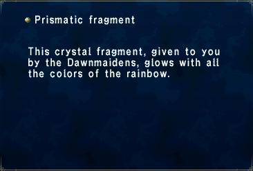 Key item prismatic fragment