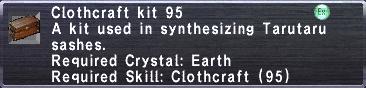 Clothcraft Kit 95