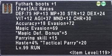 Futhark Boots Plus 1