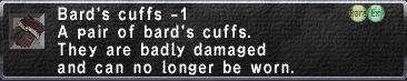 Bard's Cuffs Minus 1
