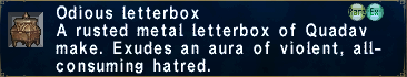 Odious letterbox