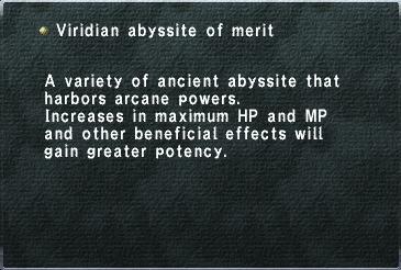 Viridian abyssite of merit