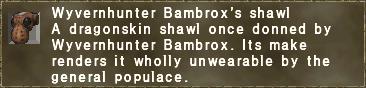 Wyvernhunter Bambrox's shawl