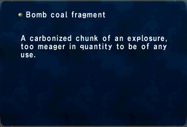 Bomb coal fragment