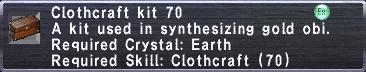 Clothcraft Kit 70