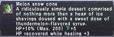 Melon Snow Cone