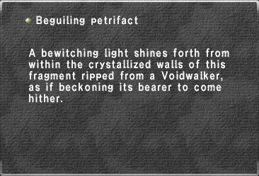 Beguiling petrifact