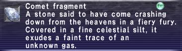 Comet fragment info