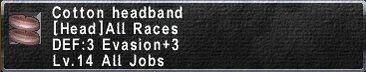 CottonHeadband