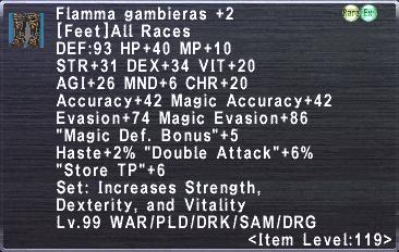 Flamma Gambieras +2