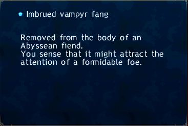 Imbrued vampyr fang