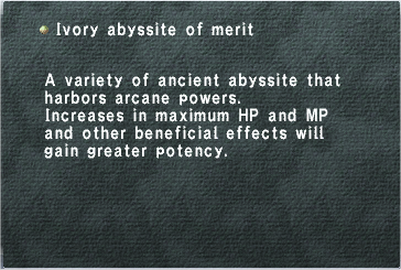 Ivory Abyssite of Merit