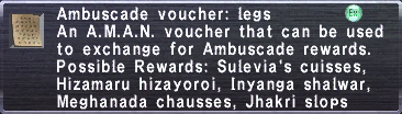 Ambuscade Voucher-Legs