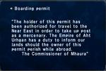 Boarding Permit