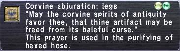 Corvine Abjuration Legs