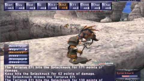 FFXI NM Saga 166 Splacknuck vs BST solo High lvl NM, Full Battle