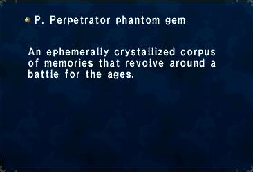 P. Perpetrator phantom gem