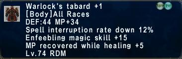 WarlocksTabard +1