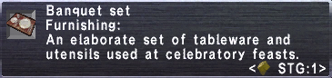 Banquet Set info