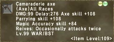 Camaraderie axe