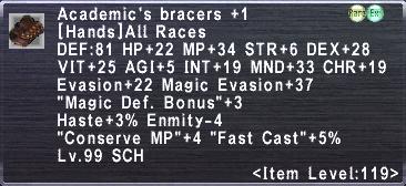 Academic's Bracers +1