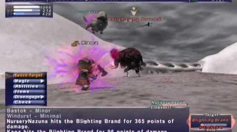 FFXI NM Saga 198 Blighting Brand vs BST Full Battle